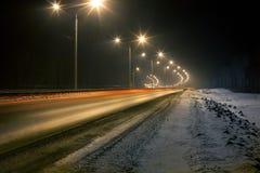 Хайвей зимы Стоковое Изображение