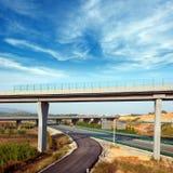 Хайвей и viaduct стоковое фото