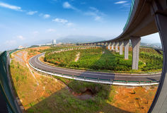 Хайвей и viaduct стоковое фото rf