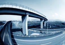 Хайвей и viaduct стоковая фотография