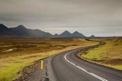 Хайвей на Исландии Стоковые Изображения RF