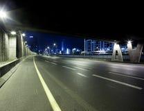 Хайвей на ноче стоковое фото rf