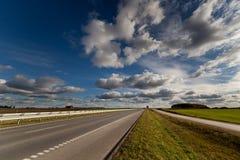 Хайвей на осени в Литве Стоковое Фото