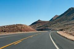 хайвей пустыни Аризоны Стоковые Изображения RF