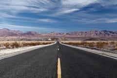 хайвей пустыни длиной прямой Стоковые Изображения RF
