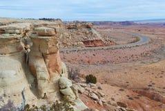 Хайвей пустыни сценарный стоковые фото