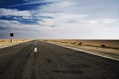 хайвей пустыни Стоковое Изображение