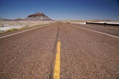 хайвей США пустыни california Стоковая Фотография RF