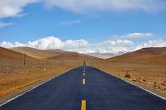хайвей Тибет стоковое изображение rf
