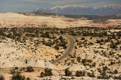 хайвей Юта пустыни Стоковая Фотография