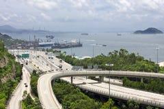 хайвей Hong Kong стоковые изображения rf