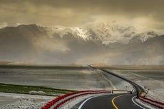 Хайвей Karakorum Стоковое Изображение