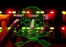 Хакеры, штурм, нападение стоковая фотография