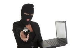 Хакер женщины Стоковые Фотографии RF