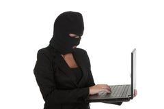 Хакер женщины Стоковое Изображение RF