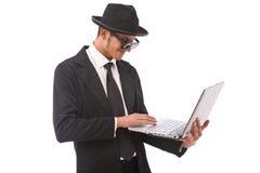 хакер компьютера Стоковое Фото