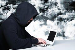Хакер на обязанности стоковая фотография rf