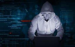 Хакер на работе Стоковые Фото