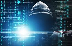 Хакер на работе Стоковые Изображения