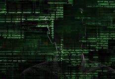 Хакер на работе Стоковые Изображения RF
