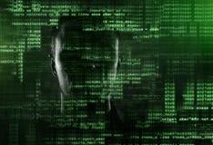 Хакер на работе Стоковое Фото
