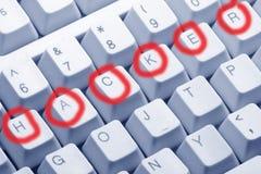 хакер принципиальной схемы Стоковая Фотография