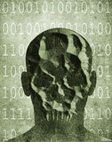 Хакер с маской черепа Стоковая Фотография