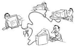 хакер Иллюстрация штока