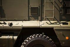 Хаки конец-вверх военного транспортного средства Стоковое фото RF