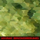 Хаки предпосылка с геометрическими пятнами Стоковые Изображения RF