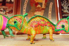 Хамелеон сувенира Toamasina, Мадагаскар Стоковые Фотографии RF