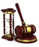 Хаммер часов часов деревянный иллюстрация штока