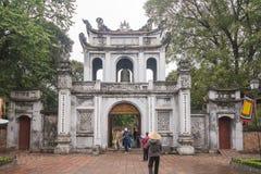 Ханой, Вьетнам 12-ое марта:: Van Mieu или висок литературы Coll Стоковая Фотография