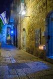 Ханука в еврейском квартале, Иерусалим Стоковые Фотографии RF