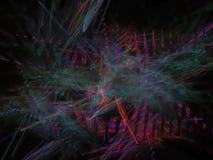 Хаосы элегантности абстрактной фрактали цифровые футуристические поверхностные вводят волшебные творческие способности в моду све иллюстрация вектора