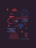 Хаотическая геометрическая абстрактная предпосылка иллюстрация штока