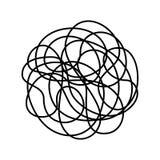 Хаотическая линия изолированная на белой предпосылке иллюстрация штока