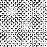 Хаотическая, скачками repeatable геометрическая картина Мозаика asymm иллюстрация вектора