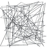 Хаотические случайные, скачками, нервные линии Абстрактная геометрическая предпосылка с сломленными кривыми для создавать текстур Стоковая Фотография