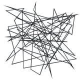 Хаотические случайные, скачками, нервные линии Абстрактная геометрическая предпосылка с сломленными кривыми для создавать текстур иллюстрация штока