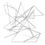 Хаотические случайные, скачками, нервные линии Абстрактная геометрическая предпосылка с сломленными кривыми для создавать текстур Стоковые Изображения