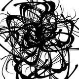 Хаотические случайные изогнутые линии Абстрактная художническая картина, backgrou Стоковые Фото