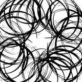 Хаотические случайные изогнутые линии Абстрактная художническая картина, backgrou Стоковое Фото