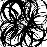 Хаотические случайные изогнутые линии Абстрактная художническая картина, backgrou Стоковая Фотография