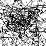 Хаотические случайные изогнутые линии Абстрактная художническая картина, backgrou Стоковые Изображения
