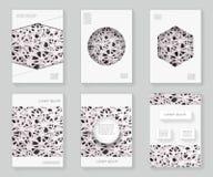 Хаотический конспект 3d решетки над предпосылкой буклета брошюры книги орнамента рамки картины дизайна шаблона дизайна декоративн Стоковое фото RF