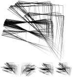 Хаотический солдат нерегулярной армии, случайные, разбросанные линии художническое геометрическое im Стоковые Изображения