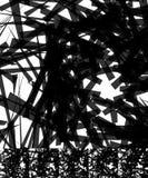 Хаотический солдат нерегулярной армии, случайные, разбросанные линии художническое геометрическое im Стоковое Изображение RF