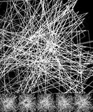 Хаотический солдат нерегулярной армии, случайные, разбросанные линии художническое геометрическое im Стоковые Фотографии RF