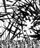 Хаотический солдат нерегулярной армии, случайные, разбросанные линии художническое геометрическое im Стоковое фото RF